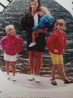 Me, my mom and two sisters, Amy and Amanda when we were kids living on Sebago Lake. My sisters and I are just a couple years apart. Amanda is the oldest, then me, then my little sister, Amy. - Ashley Allen, reporter