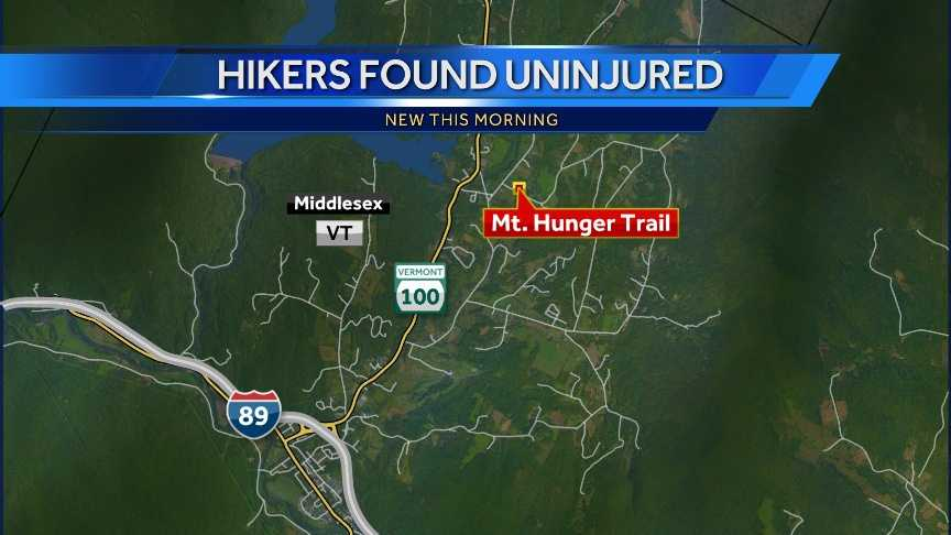 Hikers found uninjured