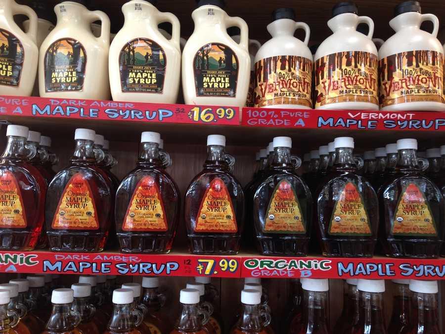 Trader Joe's maple syrup.