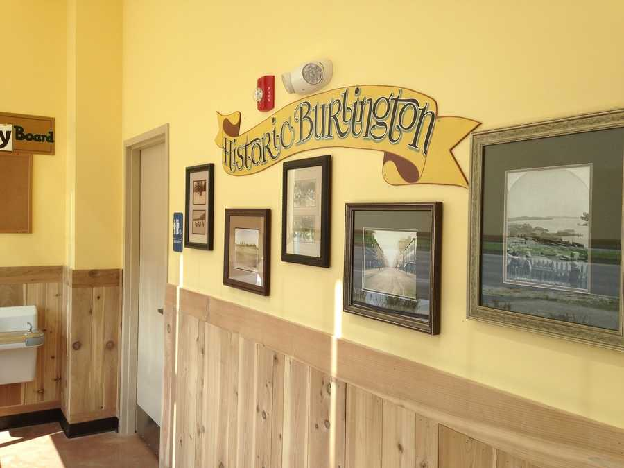 Historic pictures of Burlington in the community area.