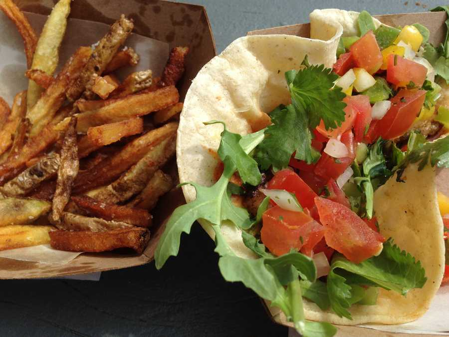 Truffle fries with a delightful smoky note, and tacos with fresh ingredients, loaded with flavor from Dolce VT, a lunch truck on Pine Street. And they dished up some mighty tasty food! - David Schneider, reporter/anchor