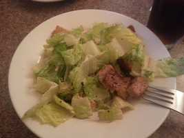 Caesar Salad with a creamy lemon dressing and homemade croutons from The Family Table in Jeffersonville, Vt. - Web Editor Jen