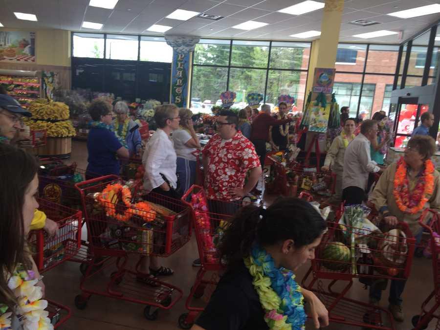 Crowd at Trader Joe's.