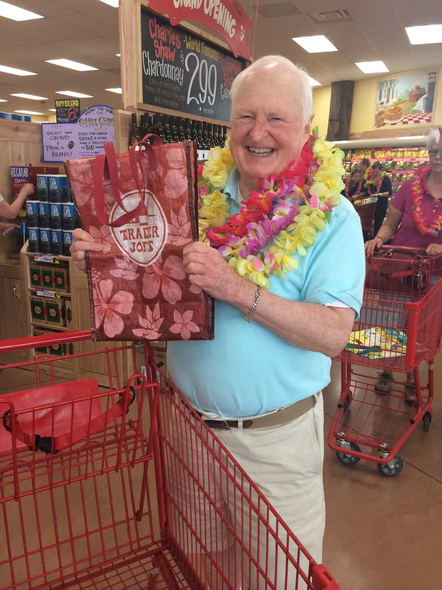 Welcome to Trader Joe's! Don't forget your reusable bag.