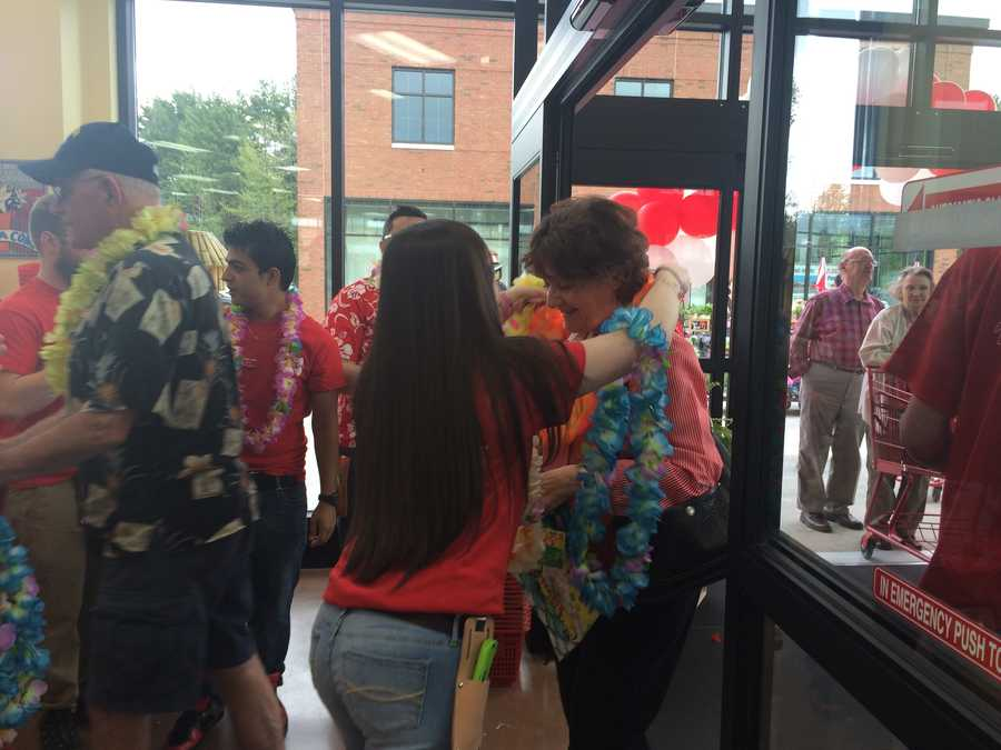 Free lei for Trader Joe's shoppers.