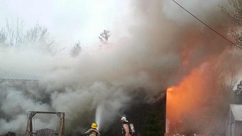 3 displaced after fire destroys Unity home