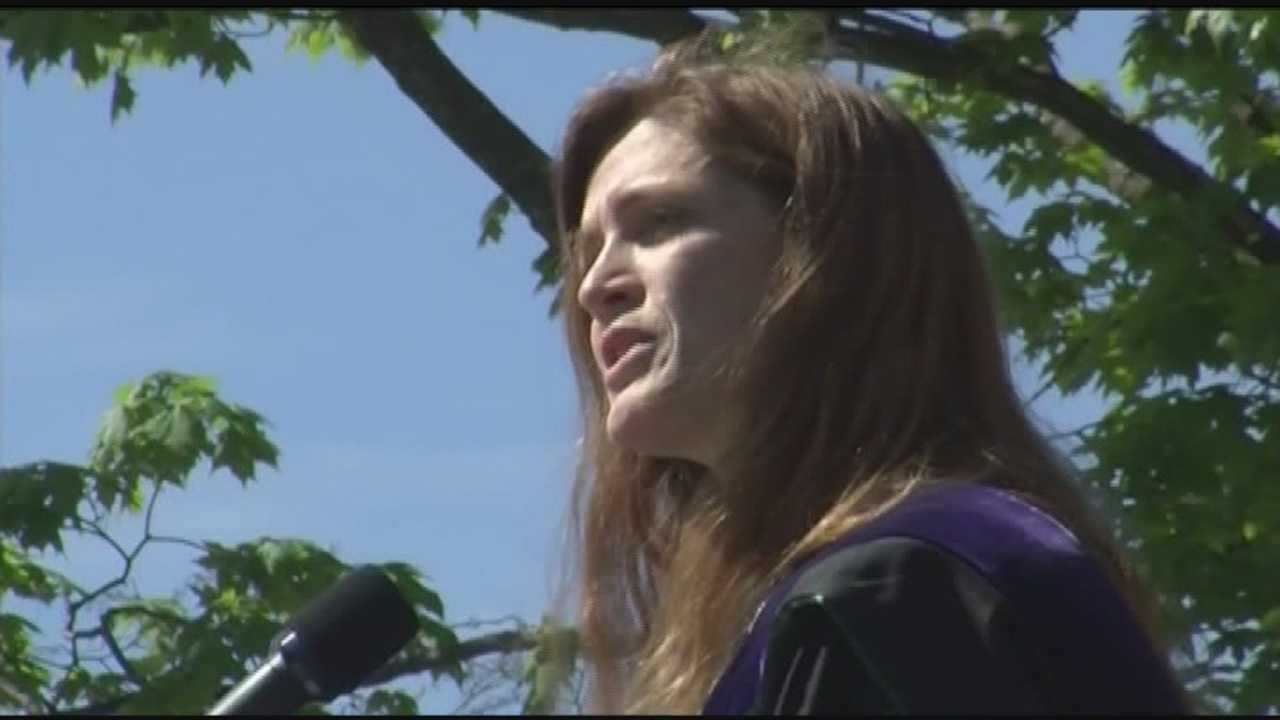 U.S. Ambassador to the United Nations Samantha Power addressed nearly 3,000 graduates at the University of Vermont for the school's commencement Sunday.