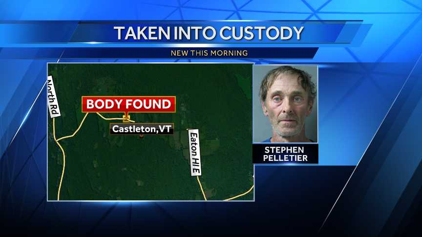 Police say they've recovered the body of a man reported missing Sunday night from his Castleton residence. The man's roommate, 58-year-old Stephen Pelletier, was taken into custody and will be arraigned Wednesday afternoon on first-degree murder charges.