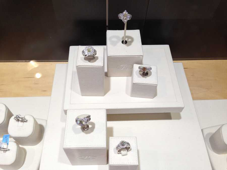 Perhaps, you could use 15 of the center-pictured engagement rings. The value of what you see in that case is $1,000,000.