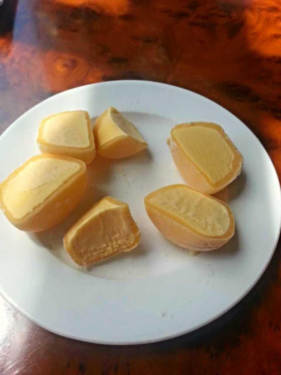 Mango mochi from Asian Bistro in Winooski, Vt. - Web Editor Jen