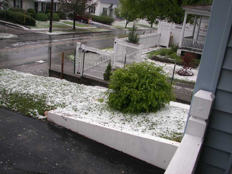 Stormy day with hail