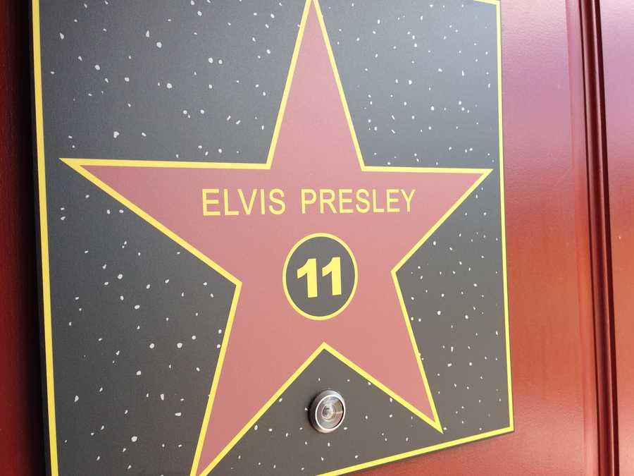 Enter the Elvis Presley room.