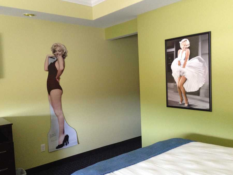 Welcome to the Marilyn Monroe room.