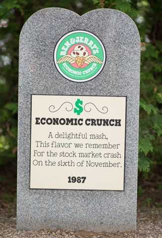 Economic Crunch1987Vanilla with Chocolate Covered Almond, Pecans and Walnuts.