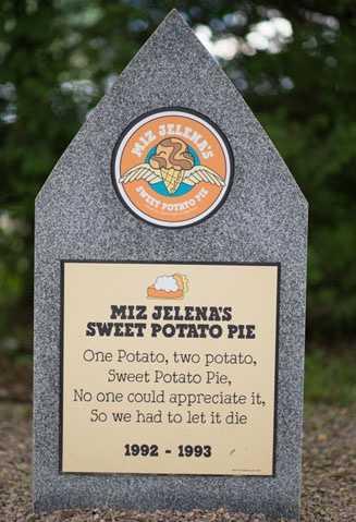 Miz Jelena's Sweet Potato Pie1992 – 1993Ginger Ice Cream with a Fudge Swirl.