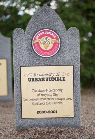 Urban Jumble2000 – 2001Coconut Almond Fudge Chip meets New York Super Fudge Chunk A Swirling Safari of Chocolate Ice Cream & Coconut Ice Cream mixed with White & Dark Chocolatey Chunks, Pecans & Roasted Almonds.