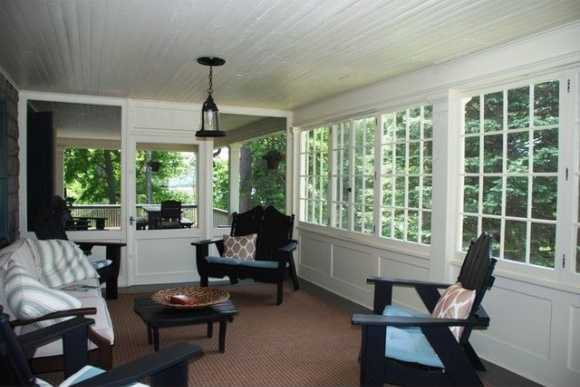 Enclosed sunroom.