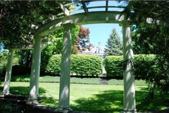 Lovely pergola in the back yard