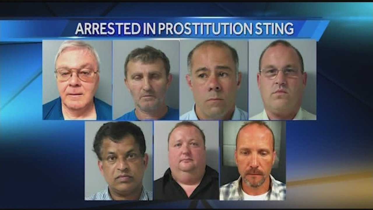 Seven men were arrested in Chittenden County following a sting setup police.