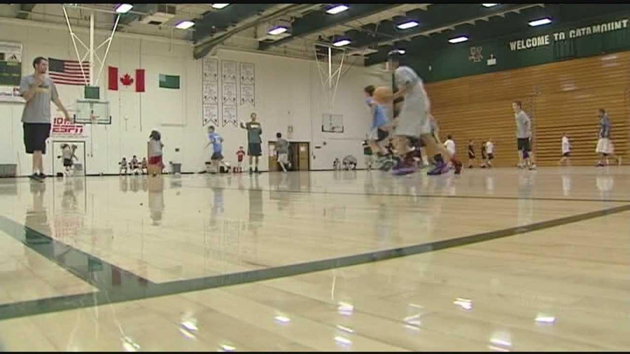 Patrick gym hosts John Becker's camp, and incoming freshman.