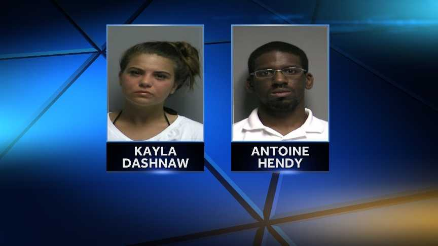 Antoine Hendy and Kayla Dashnaw were arrested June 26, 2014 on criminal possession of a controlled substance. Clinton County Sheriff's Office says the pair were selling heroin out of the Plattsburgh hotel room.