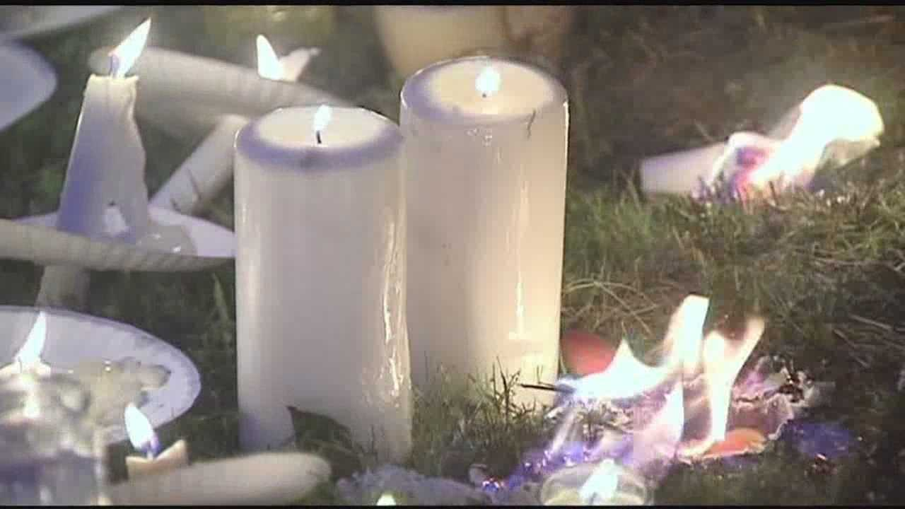 Friends and family hold candlelight vigil in Plattsburgh Friday