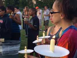 Candles to help remember and honor the victims