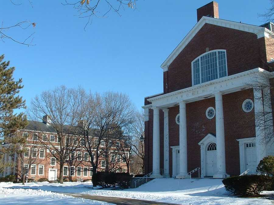 #21 Northpoint Bible College (Massachusetts) $9,980 for tuition and fees for the 2012-13 academic year according to the U.S. Department of Education.