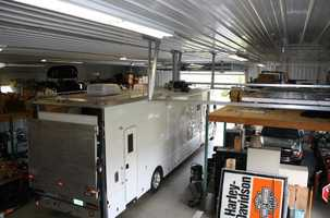 Massive RV garage.