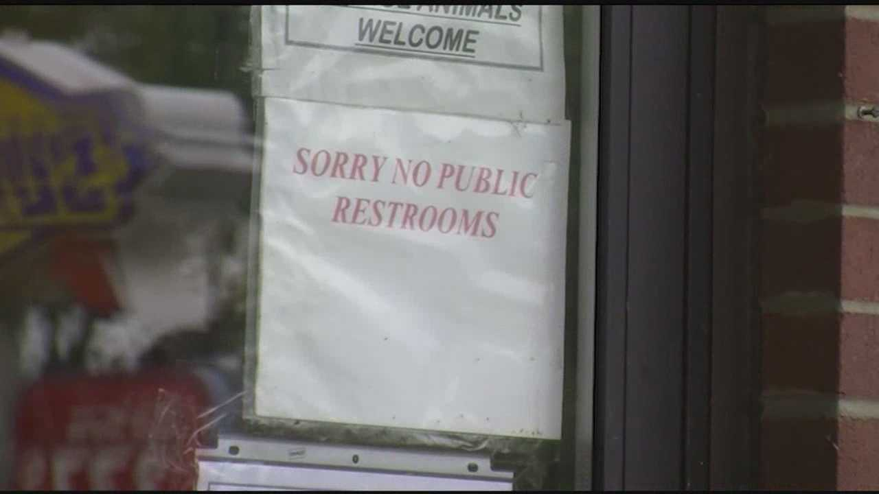 Some businesses change restroom policy