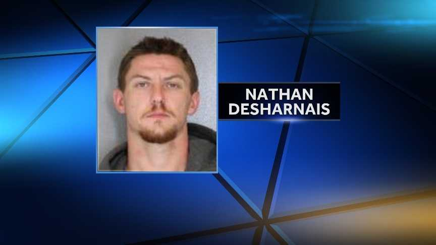 Nathan Desharnais, 28, of Saranac Lake, N.Y. was arrested July 22, 2014 following a traffic stop. NYSP say he was in possession of 41 bags of heroin and several hypodermic needles.