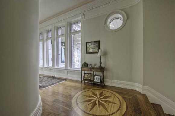 Hard wood floors along the hallway.