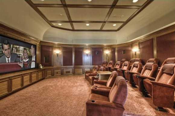 Unbelievable home theater can seat up to 16 people.