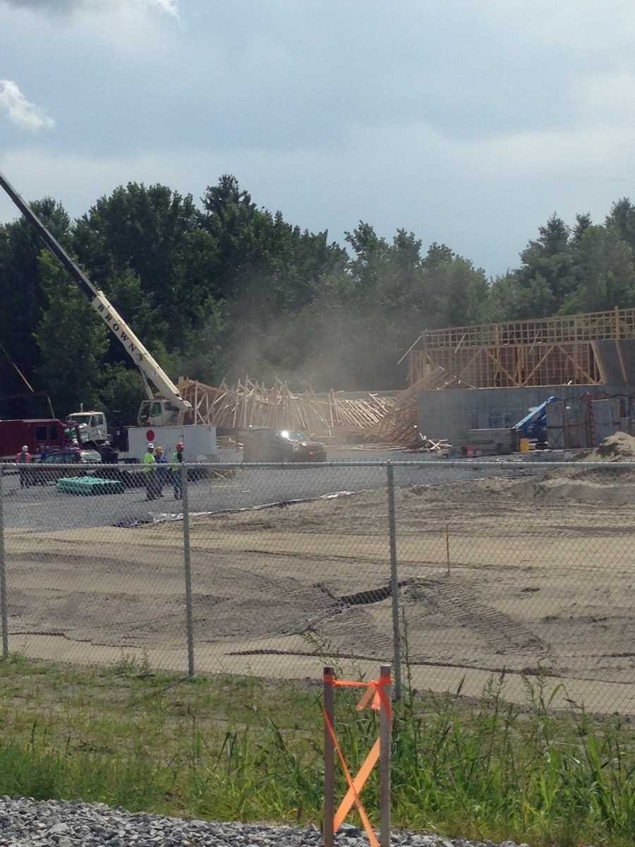 An under-construction building collapsed Thursday afternoon in Williston.
