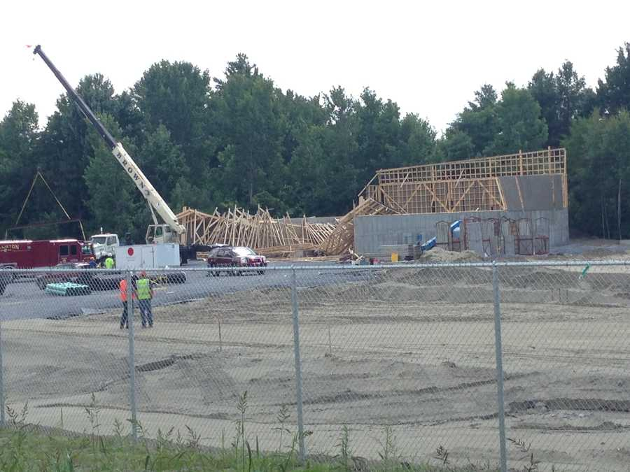 The scene of an under-construction building collapse in Williston.