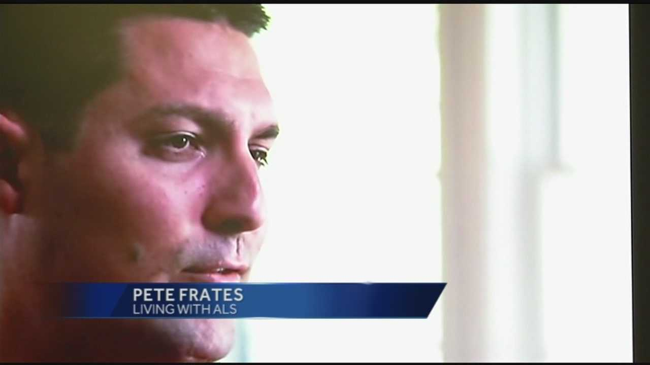 Former Boston College baseball player Pete Frates has Lou Gehrig's disease.