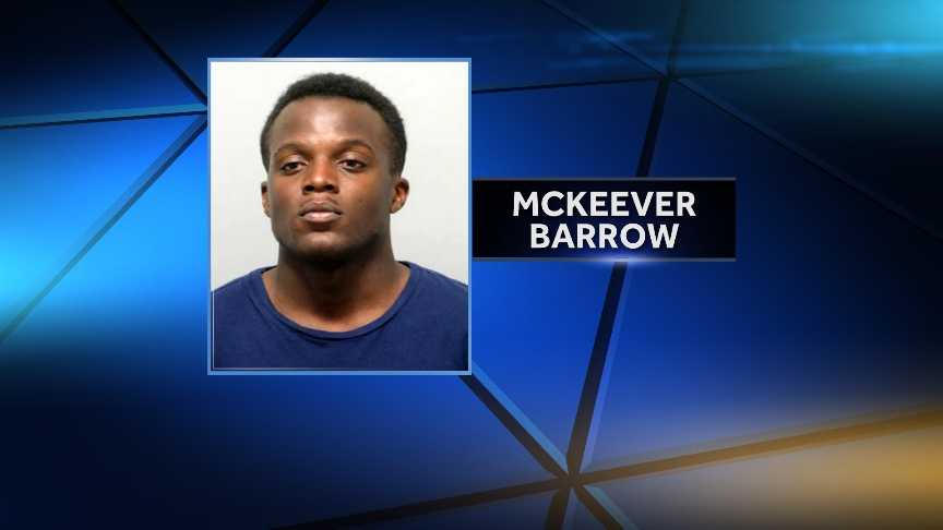 McKeever Barrow, 21, of South Carolina, was cited into court on Thursday in connection with an assault on Main Street, Burlington, last week.