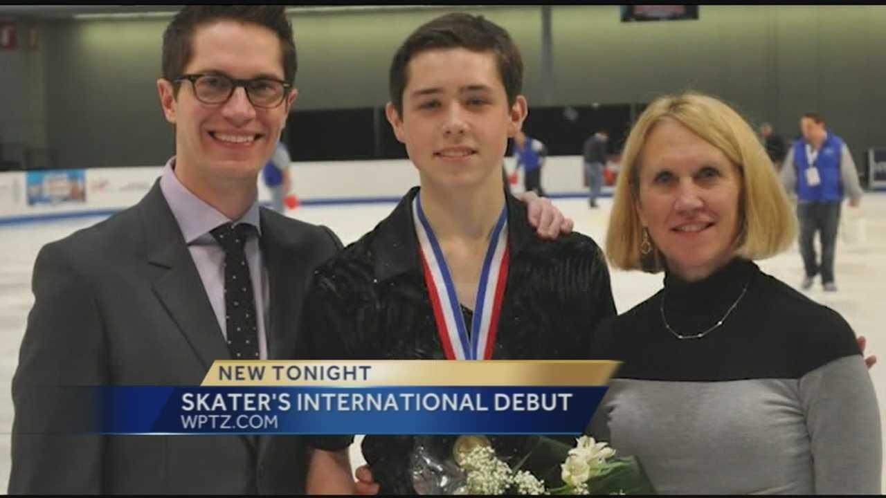 Local skater makes international debut
