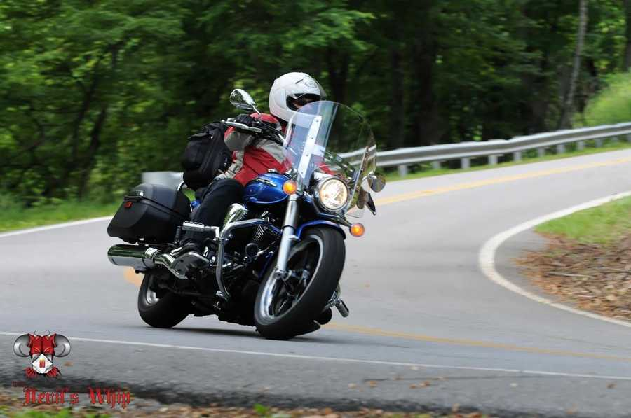 Mrs. Hickey mountain bikes and skis too – but she also loves to go on long motorcycle tours.