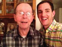 My last living grandparent is Papa Hick. He's 90 now! To commemorate this momentous occasion, he requested we take a selfie. Love him!
