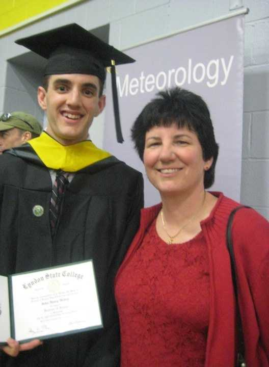 I always knew I wanted to be a meteorologist. Here's my mom and I at my college graduation from Lyndon State College in Vermont where I got my B.S. in Broadcast and Private Industry meteorology.