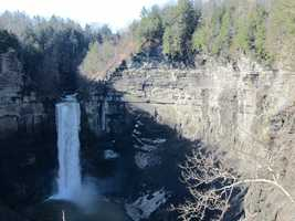 """Before coming to the Champlain Valley to work – I spent three years working in Elmira, NY. I explored so much of what the """"Twin Tiers"""" has to offer. Here's a picture of Taughannock Falls which is located just outside of Ithaca."""