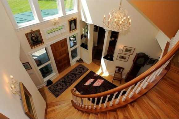Grand two story foyer.