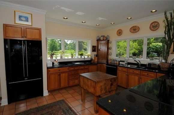 Upgraded kitchen retains vintage feel.