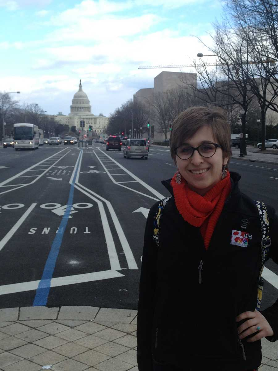 I love traveling. Here's me on one of my favorite trips…Washington DC!