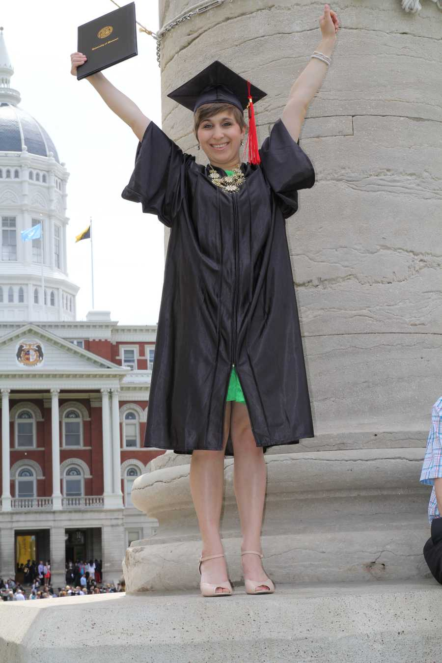 I graduated from the Missouri School of Journalism. I am a HUGE Mizzou fan… I even named my dog Truman, after our mascot!