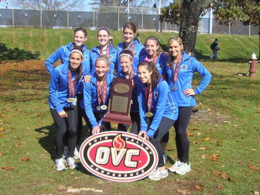 Cross country is my favorite sport! And I ran on my university's cross country team. Being on that team made college a thousand times better. I made so many life-long friends and got to be a part of something that really pushed me to my limits every day. This picture is of one of my favorite days ever, when we won conference in 2011.