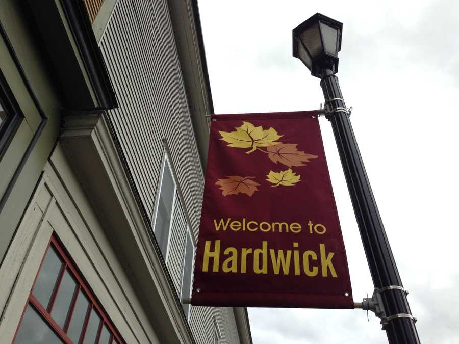 Welcome to Hardwick banners line the streets.