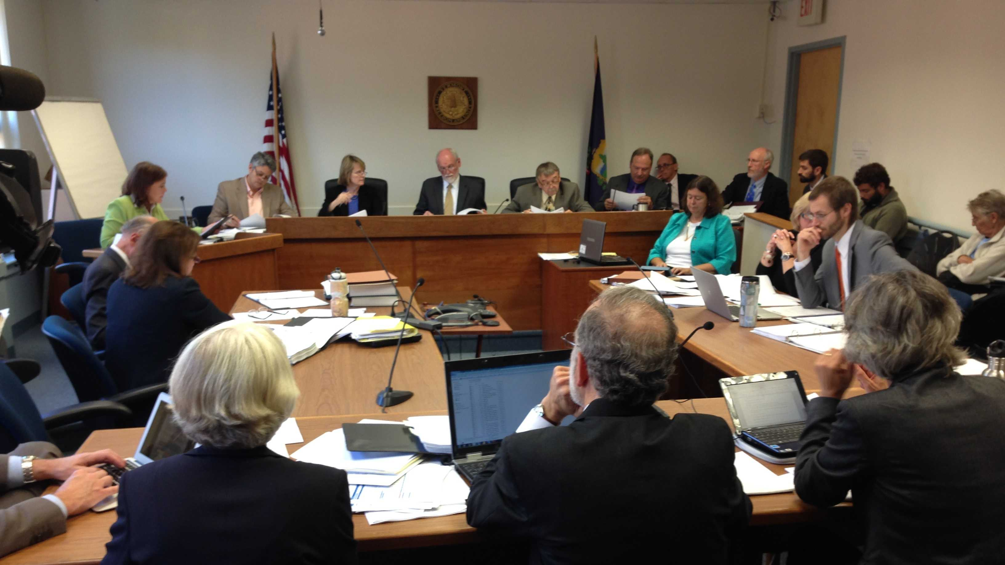 The Public Service Board held hearings Sept. 26 on whether to reconsider approval of a natural gas pipeline to Middlebury.