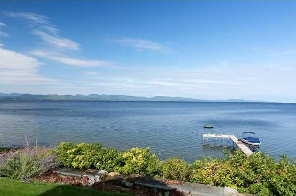 View of Lake Champlain.